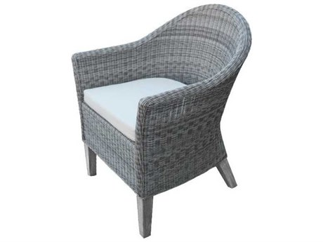 Three Birds Casual Vienna Wicker Dining Chair with cushion