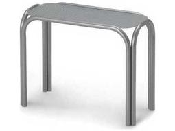 25'' x 11'' Rectangular Embossed Aluminum Chaise Table