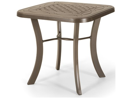 Telescope Casual Cast Aluminum 22 Square End Table