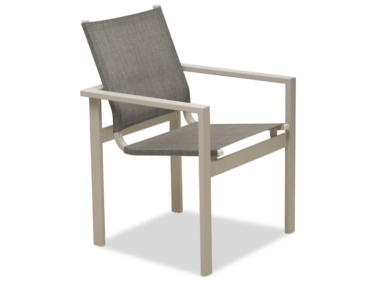Telescope Casual Tribeca Sling Aluminum Stackable Dining Arm Chair PatioLiving