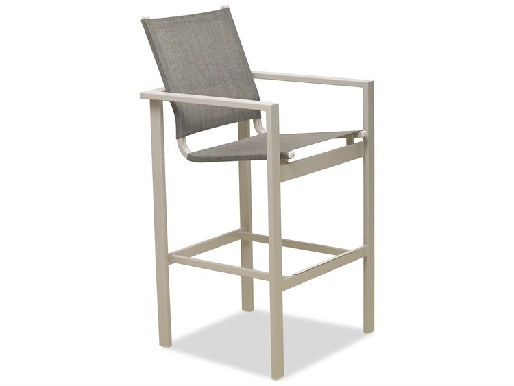 Telescope Casual Tribeca Sling Aluminum Bar Height Chair PatioLiving