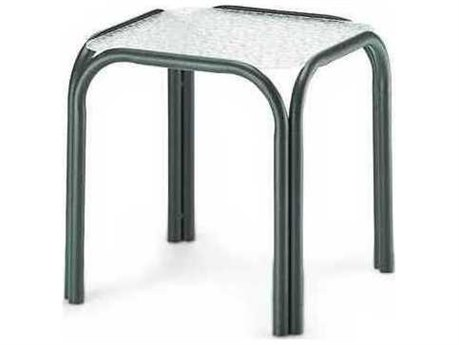 17'' Square Embossed Aluminum Top End Table