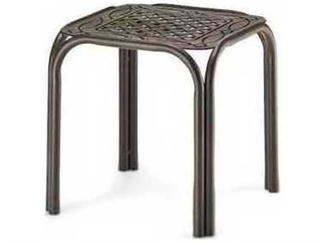 17'' Square Aluminum Cast Top End Table