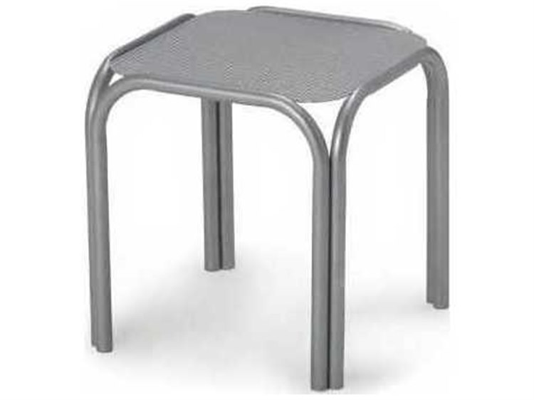 Telescope Casual Embossed Aluminum Top 17 Square End Table