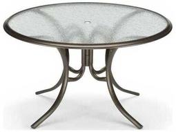 56'' Round Glass Top Dining Table with Umbrella Hole