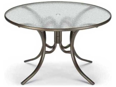 48'' Round Acrylic Dining Table With Umbrella Hole
