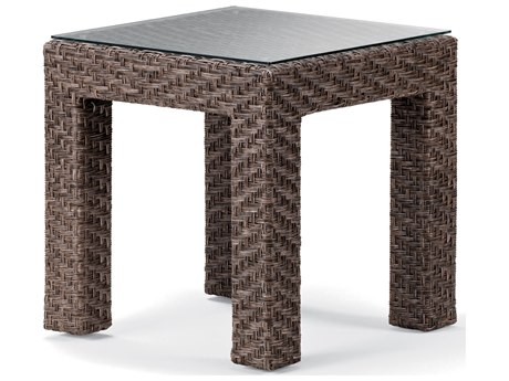 Telescope Casual Lake Shore Wicker Square End Table