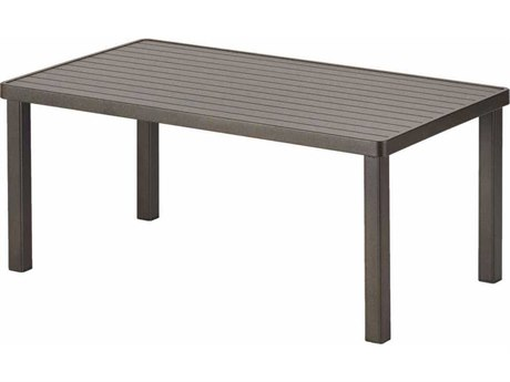 42'' x 21'' Rectangular Aluminum Slat Coffee Table
