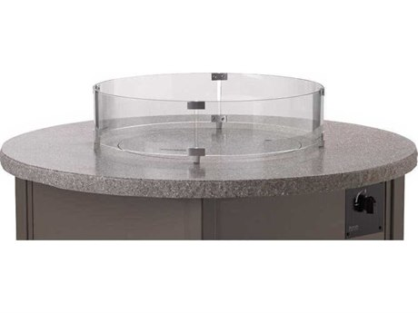 Telescope Casual Fire Table Round Glass Surround for 48 and 54 Round MGP Top