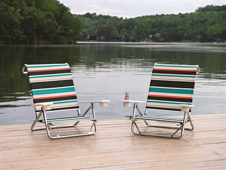 Telescope Casual Beach Chairs Aluminum Pool Lounge Set