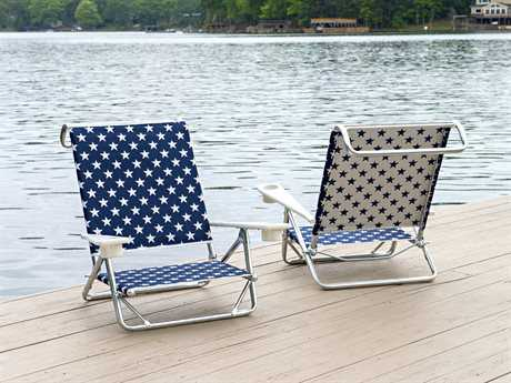 Telescope Casual Beach Chairs Aluminum Conversation Lounge Set