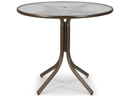 Glass 42'' Round Balcony Height Table with Umbrella Hole