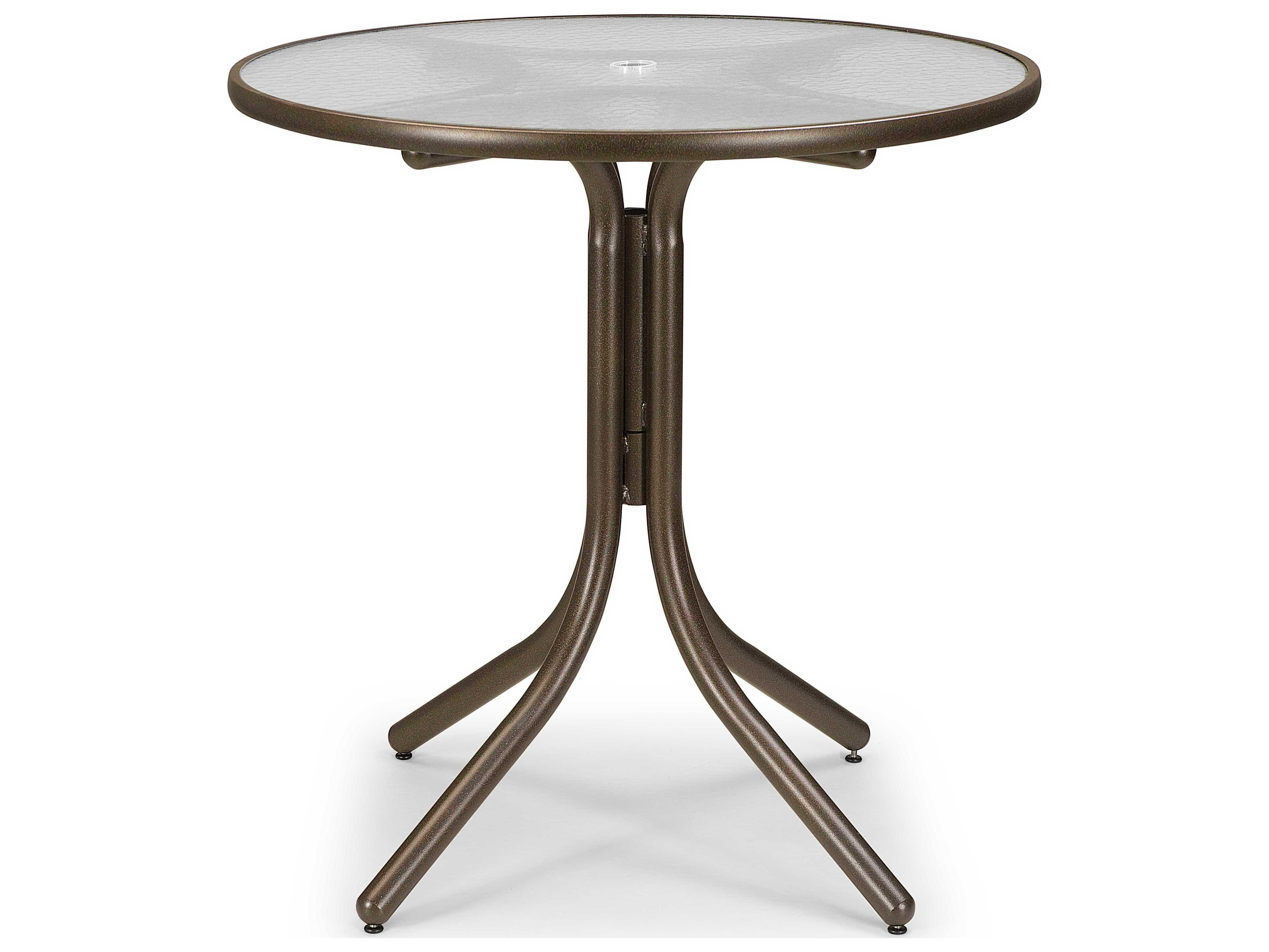 Table Height 36: Telescope Casual Glass 36'' Round Balcony Height Table