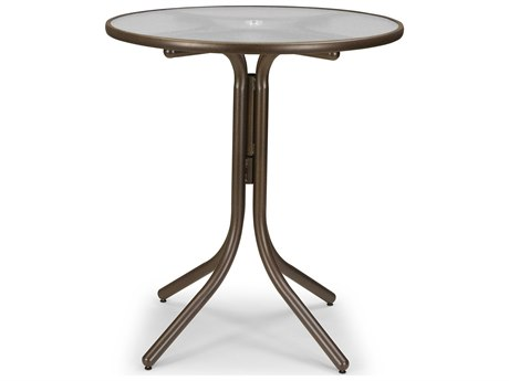 36'' Round Glass Top Bar Table with Umbrella Hole