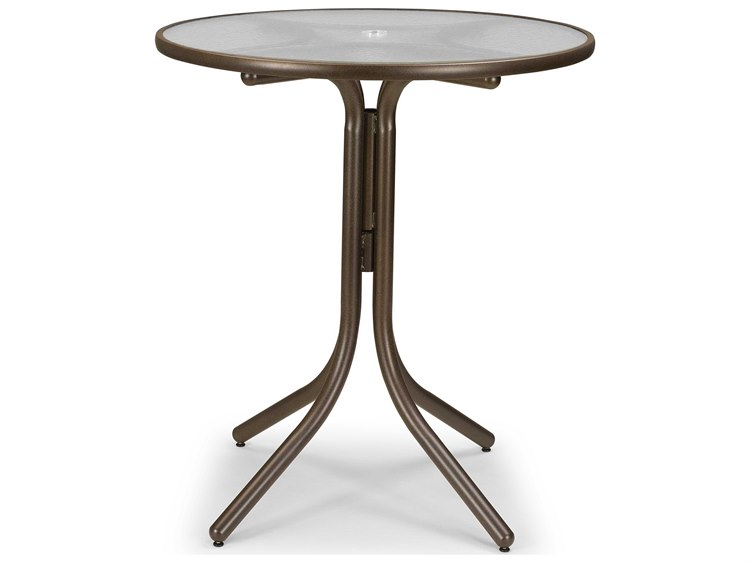 Telescope Casual Glass 36'' Round Bar Height Table with Umbrella Hole
