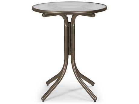 Telescope Casual Glass 30'' Round Balcony Height Table