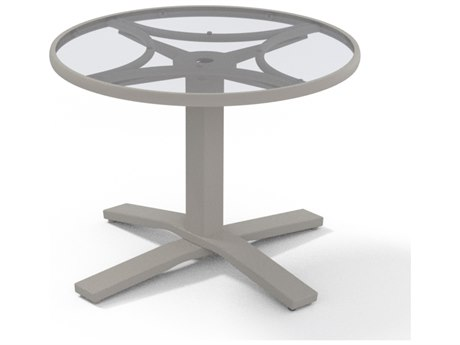 Telescope Casual Glass 30''Wide Round Chat Table