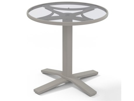Telescope Casual Glass 30''Wide Round Dining Table