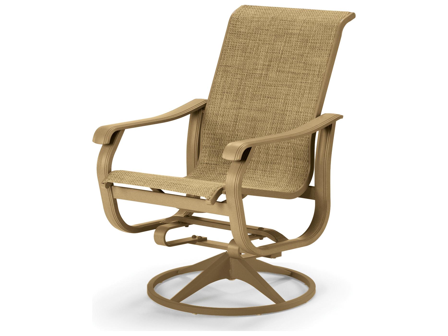 Telescope Casual Villa Sling Swivel Rocker Dining Chair