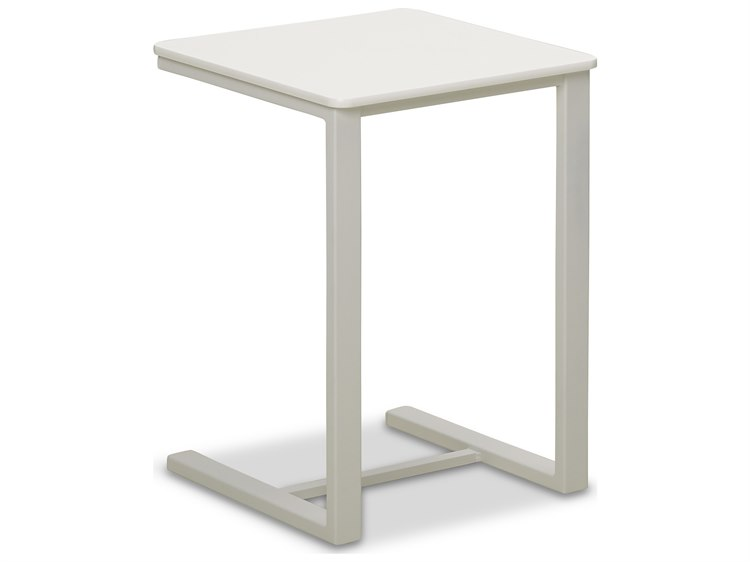 Telescope Casual Marine Grade Polymer 17.5''Wide Square Side Table PatioLiving