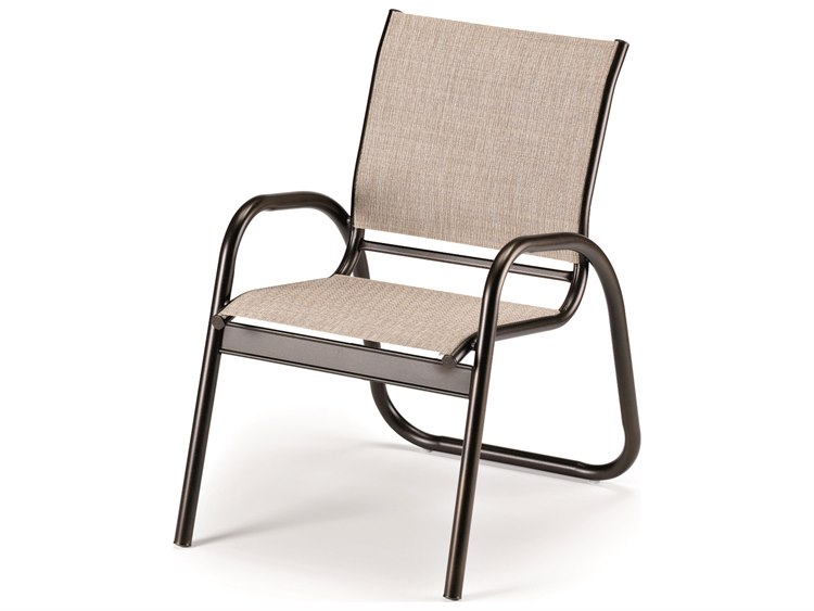 Telescope Casual Gardenella Sling Aluminum Stackable Dining Arm Chair PatioLiving