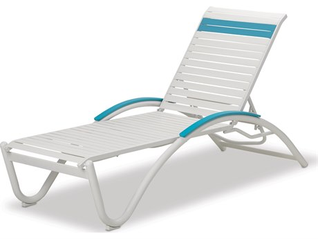 Telescope Casual Helios Strap Aluminum Stackable Chaise Lounge