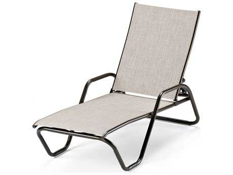 Telescope Casual Gardenella Sling Aluminum Stackable Chaise Lounge