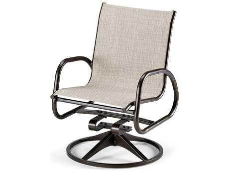Telescope Casual Gardenella Sling Aluminum Swivel Rocker Dining Chair