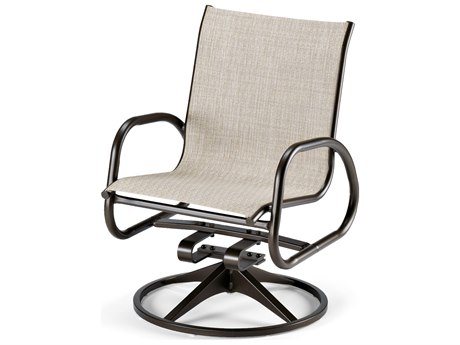 Telescope Casual Gardenella Sling Aluminum Swivel Rocker Dining Chair PatioLiving