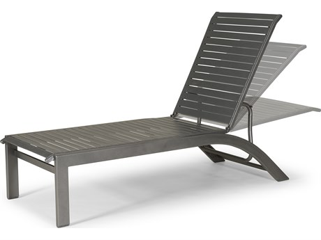 Telescope Casual Kendall Strap Aluminum Lay-flat Stackable Chaise Lounge