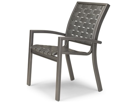 Telescope Casual Kendall Cross Strap Aluminum Stacking Cafe Chair