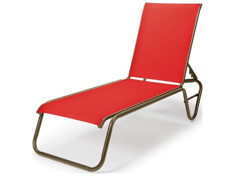 Telescope Casual Gardenella Sling Aluminum Lay-Flat Chaise Lounge PatioLiving