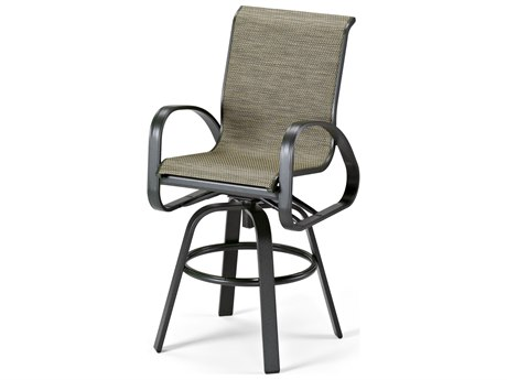 Telescope Casual Primera Sling Aluminum Swivel Bar Height Chair