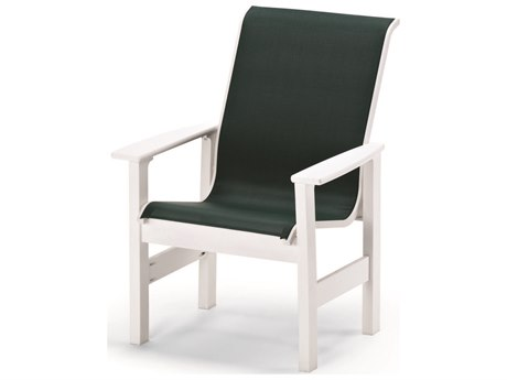Telescope Casual Leeward MGP Sling Recycled Plastic Dining Arm Chair PatioLiving