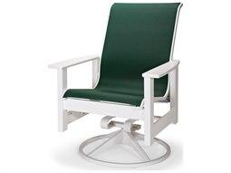 Telescope Casual Leeward MGP Sling Recycled Plastic Adjustable Swivel Rocker Dining Arm Chair