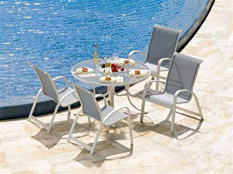 Telescope Casual Primera Sling Aluminum Dining Set PatioLiving