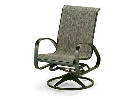 Telescope Casual Primera Sling Aluminum Adjustable Swivel Rocker Dining Chair