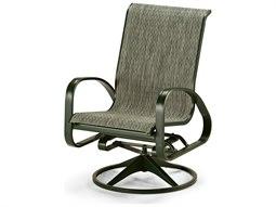 Telescope Casual Primera Sling Aluminum Adjustable Swivel Rocker Dining Arm Chair