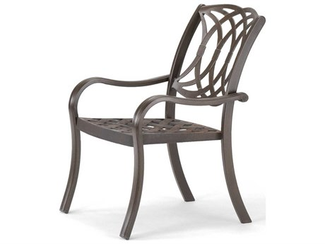 Telescope Casual Ocala Cast Aluminum Metal Arm Stackable Dining Chair