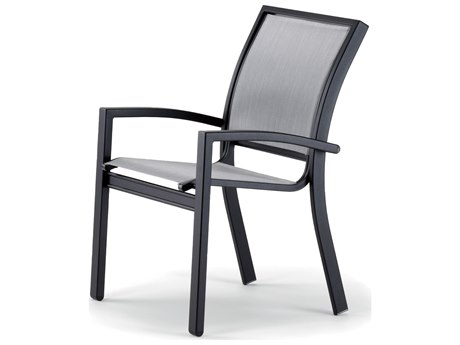 Telescope Casual Kendall Sling Aluminum Stackable Dining Arm Chair