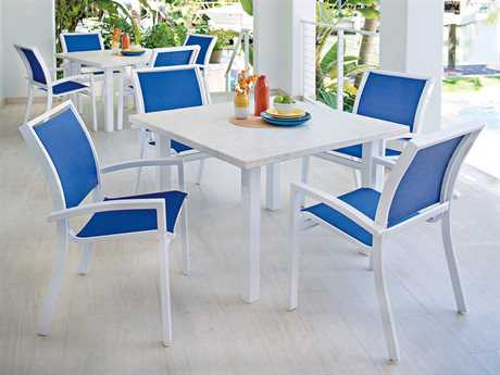 Telescope Casual Kendall Sling Aluminum Dining Set PatioLiving