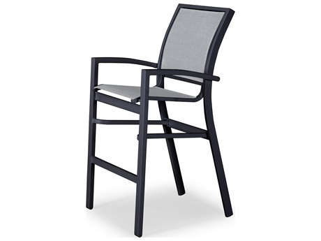 Telescope Casual Kendall Sling Aluminum Stackable Bar Height Chair