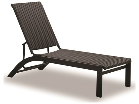 Telescope Casual Kendall Wicker Aluminum Lay-flat Stacking Armless Chaise