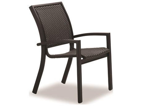 Telescope Casual Kendall Wicker Aluminum Stacking Cafe Chair