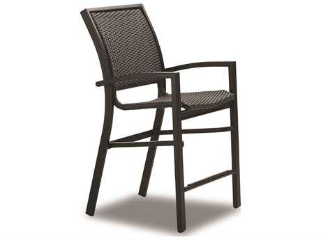 Telescope Casual Kendall Wicker Aluminum Balcony Height Stacking Cafe Chair