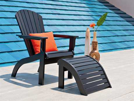 Telescope Casual Adirondack MGP Recycled Plastic Lounge Chair and Ottoman Set