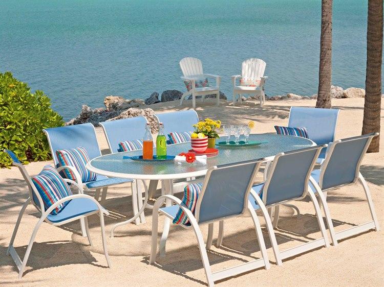 Telescope Casual Aruba Ii Sling Aluminum Dining Set