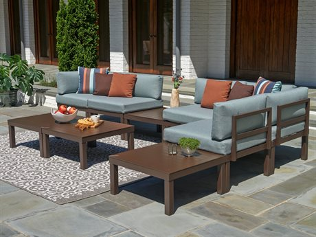 Ashbee Sectional Cushion Cast Aluminum Lounge Set