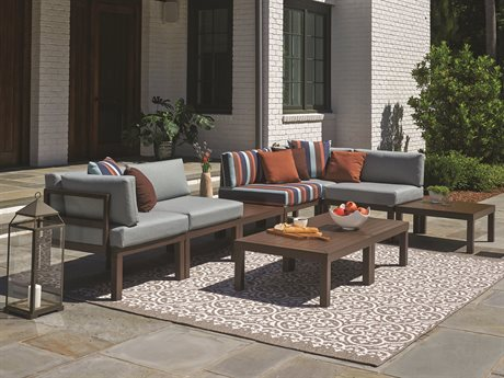 Telescope Casual Ashbee Sectional Cast Aluminum Lounge Set