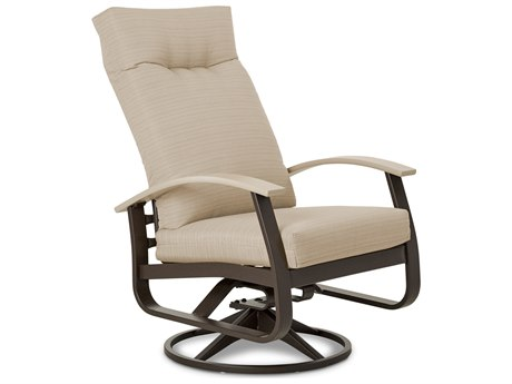 Telescope Casual Belle Isle Cushion Aluminum Supreme Swivel Rocker Dining Arm Chair with Polymer Accents